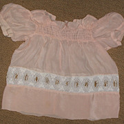 Vintage Hand-Made Peach Organdy Baby Dress