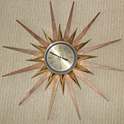 Retro German Made Welby 50's Era Sunburst Clock