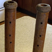 Set of Antique Wooden Beehive Bobbins