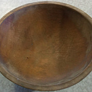 19th Century Large Round Wooden Dough Bowl
