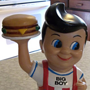 1999 Elias Brothers Restaurants Funko Bob's Big Boy Plastic Bank Doll