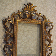 Impressive Cast and Gilded Dresser Frame with Acanthus Leaf Design