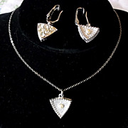 Vintage Sarah Coventry Dawn to Dusk Faux Pearl Rhinestone Set