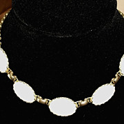 1950 Artic Pearl Sarah Coventry & Emmons White Cabochon Necklace