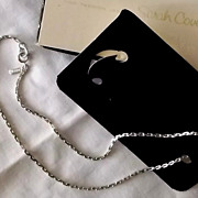 1974 Silvertone Sarah Coventry Anchor Chain Necklace Embraceable