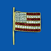 KJL Patriotic Flag Pin - Pendant