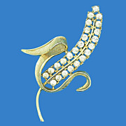 Rhinestone Corn Stalk Pin by SC