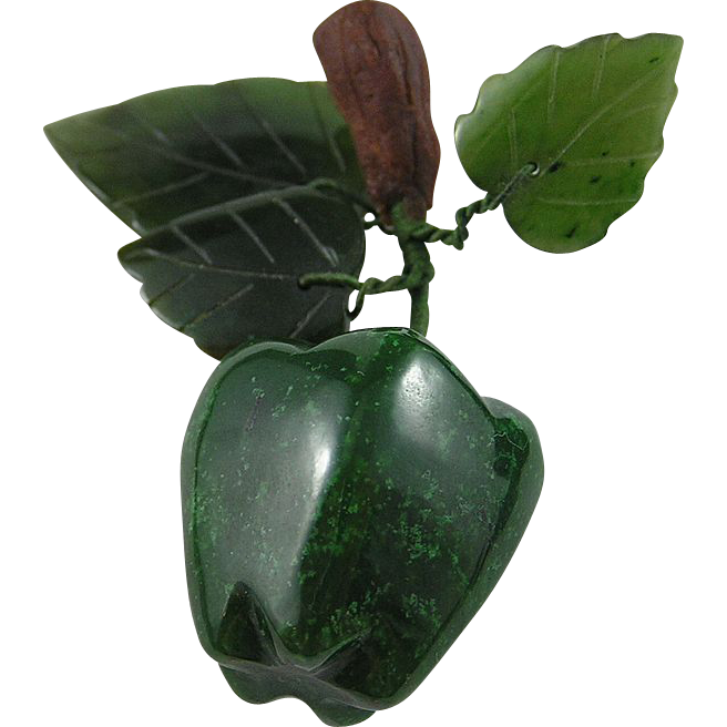 Lovely BC Jade Apple Ornament