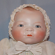 SOLD Beautiful Grace Putnam Bisque Head Bye Lo Doll with Tagged Dress