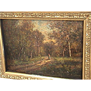 19C Antique Theodore Rousseau Barbizon Painting French