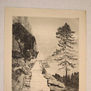 1920 Heinrich Meyer Etching Pencil Signed & Dated Well Listed