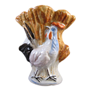 Antique Staffordshire Rooster Vase Unusual Excellent Condition