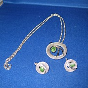 Vintage Van Dell Sterling Necklace & Earrings Gorgeous
