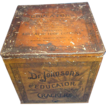 Antique Dr. Johnson's Educators Cracker Tin Hard to Find