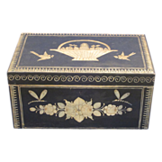 1820 Continental Box Gorgeous Hand Painted Folk Art w Animals All Original NR