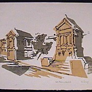 Mod Artist Print The Boston Museum of Fine Art by K.W. Strange Pencil Signed
