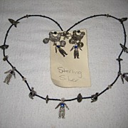 Sterling Silver Necklace & Earrings Signed Wonderful