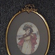 19th Century Painting of A Beautiful Lady by Leon Moran American