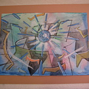 Vintage Original Roberto Matta Watercolor Signed Beautiful