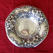 Gorham Sterling Silver Floral Nut Dish Bowl