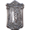 Ornate sterling Silver Match Safe of a Naked Woman playing a flute.