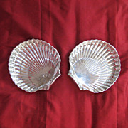 SALE A Pair of Gorham Sterling Silver Scallop Shell Shaped Dishes