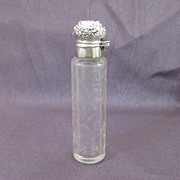 Unger Brothers Sterling Silver and Cut Glass Perfume