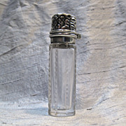 La Pierre Sterling Silver and Panel Cut Glass Perfume