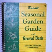 SALE Sunset Garden Record Guide 1955 1st Ed!