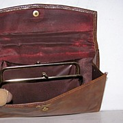 SALE St.Thomas Leather Wallet/Clutch w' Coin Purse Unused
