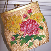 SALE Walborg Handbag Handmade & Handpainted *  perfect Prom purse *