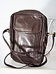 Brown Leather Unisex Shoulder Bag Mint!