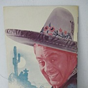 "SALE Leo Carrillo ""The Bad Man"" Souvenir Program"