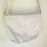 SALE Ganson white leather Hobo w' multiple compartments