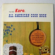 SALE Karo Cookbook Circa 1960