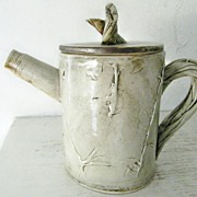 SALE Art Pottery Tea Pot Twig Motif