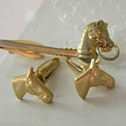 SALE Hickok Horse Cufflinks & Tie Bar