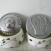 SALE Two Signed BMT Mexican Pewter Trinket boxes