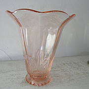 SALE Large Imperial Collectors Guild Pink  Glass Vase