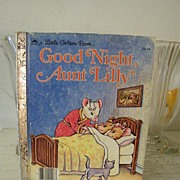 SALE Good Night Aunt Lilly ... A Little Golden Book 1983