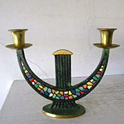 SALE Dayagi Sabbath Candle Holder 2 Branch Shabbat