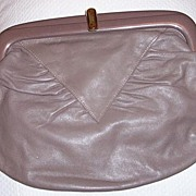 SALE Large Italian Leather Clutch Purse Excellent Condition!