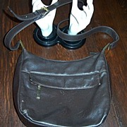"SALE Brown Leather Hobo 12"" Shoulder Bag"