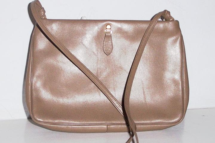 &quot;Etra&quot; Tan Leather Shoulder Bag