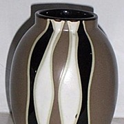 SALE Geometric Modern Vase Art Pottery Ceramic
