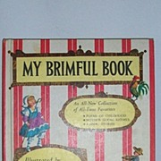 SALE My Brimful Book Tasha Tudor 1st edition 1969