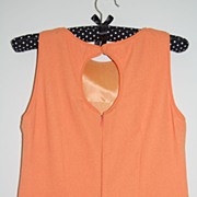 SALE VTG Nordstrom ~ Tangerine Dress w/ Keyhole Back