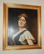 Early 20th C Italian Gypsy Oil Painting w/ Orig Frame