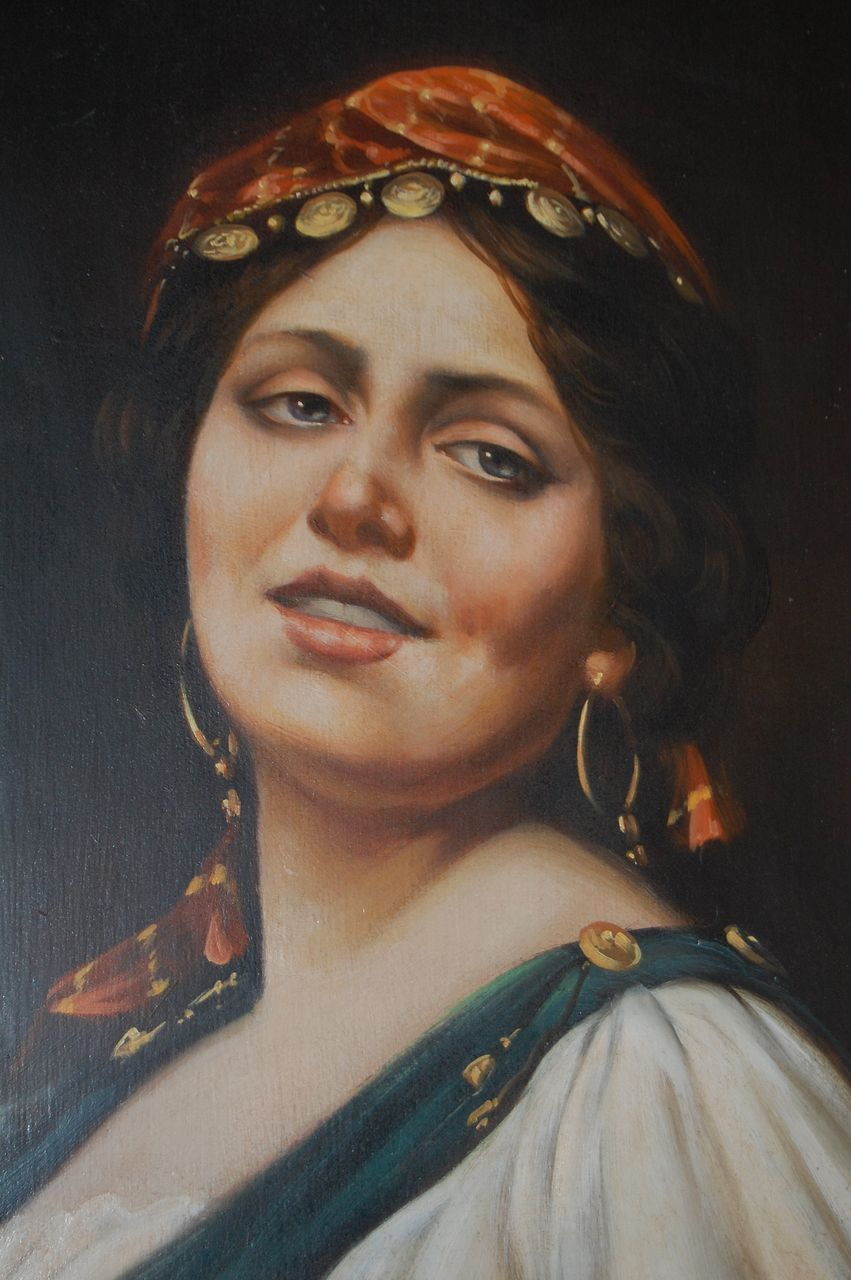 Gypsy Woman Painting Roll over Large image to
