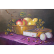 VTG Oil on Canvas Large Still Life Painting ~ Signed
